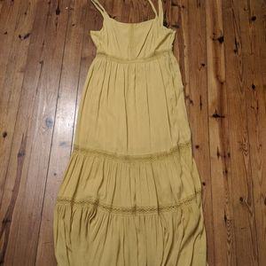 Altar'd State Mustard Maxi Dress